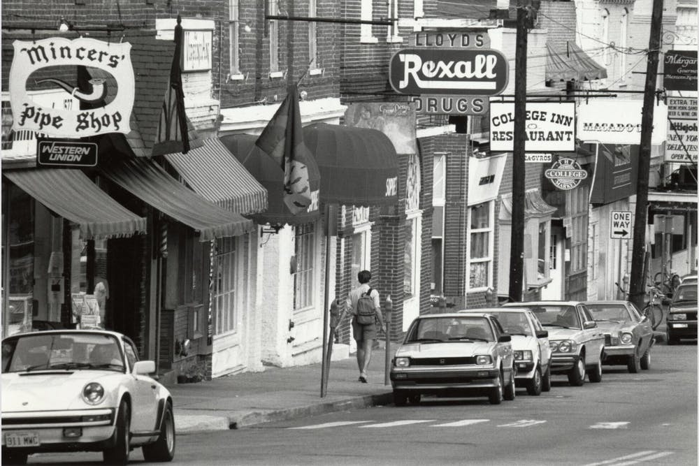 <p>Few of the original businesses on the Corner still exist — while some have been replaced by other local businesses, many are now large chains.&nbsp;</p>