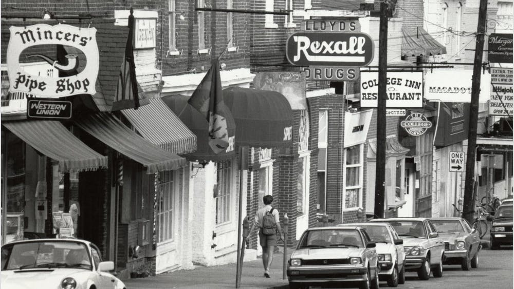 Few of the original businesses on the Corner still exist — while some have been replaced by other local businesses, many are now large chains.