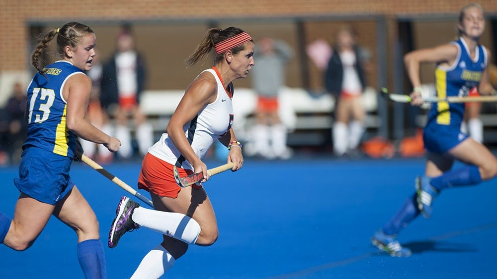 Junior striker Caleigh Foust scored the lone Virginia goal in the 2-1 loss to the Blue Devils.