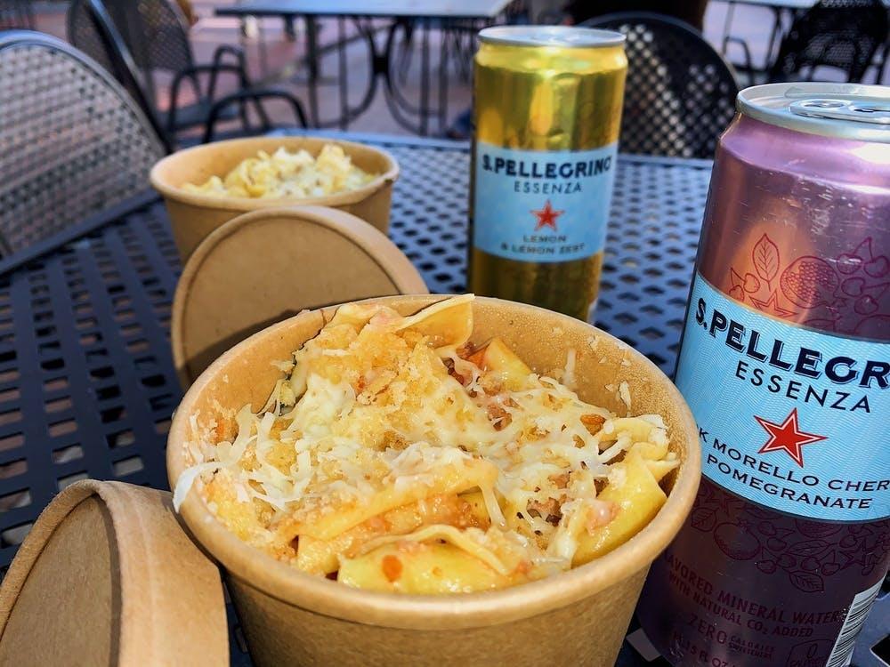 The Bolo 是对番茄肉酱进行改良后,用自制香肠和新鲜薄荷手工制成的帕帕代尔意面