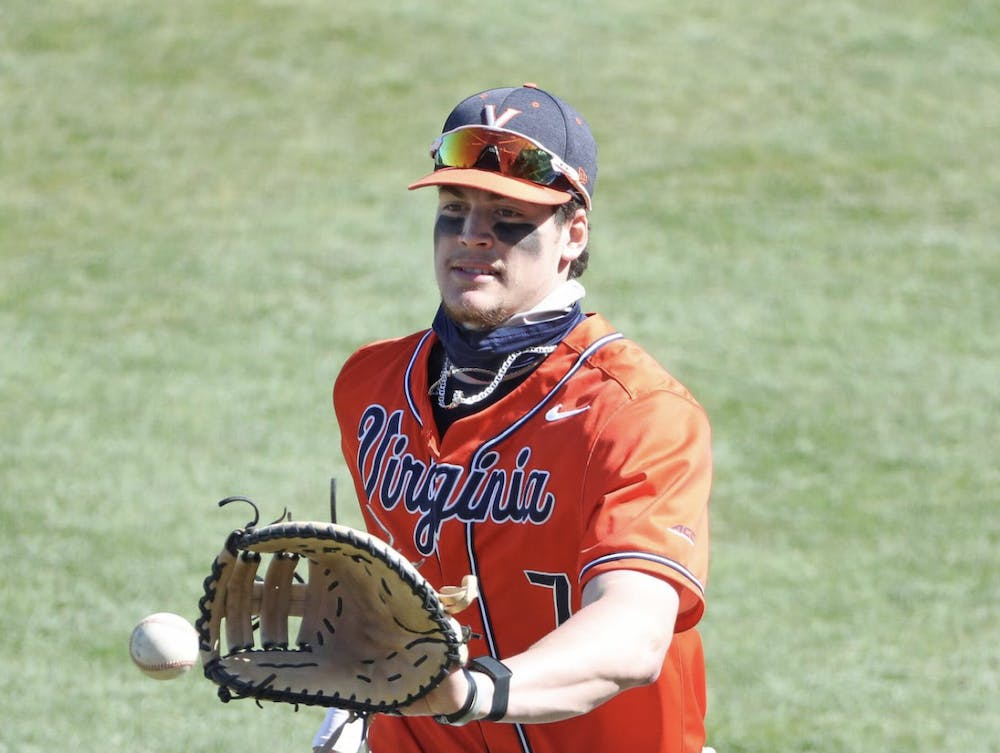 <p>Senior first-baseman Devin Ortiz sent in two home runs throughout the challenging series.</p>