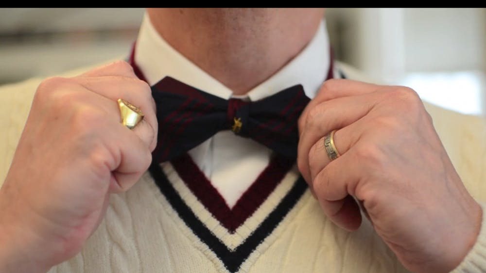 There's a lot of men that wear bow ties around here. Like, a lot, a lot. You'd think that the administration had banned regular ties.