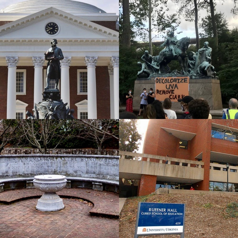 The Board of Visitors approved resolutions to remove the George Rogers Clark statue, contextualize the statue of Thomas Jefferson in front of the Rotunda, rededicate or remove the Whispering Wall, rename the Curry School and rename Withers-Brown Hall.