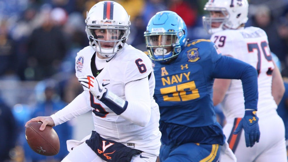Senior quarterback Kurt Benkert struggled for Virginia, completing 16 of 36 passes for only 145 and no touchdowns, including an interception.