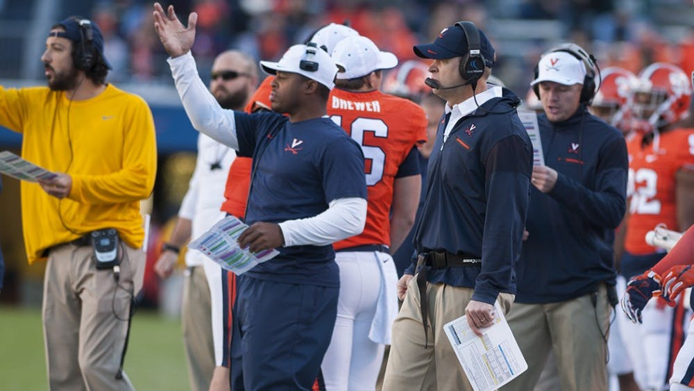 Coach Bronco Mendenhall looks for his team to show improvement to the many onlookers and Virginia's Spring Game on Saturday.