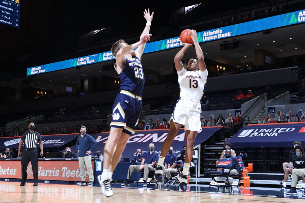 <p>Sophomore guard Casey Morsell had a strong afternoon in his first game back from quarantine, posting 15 points on 86 percent shooting from the field.&nbsp;</p>