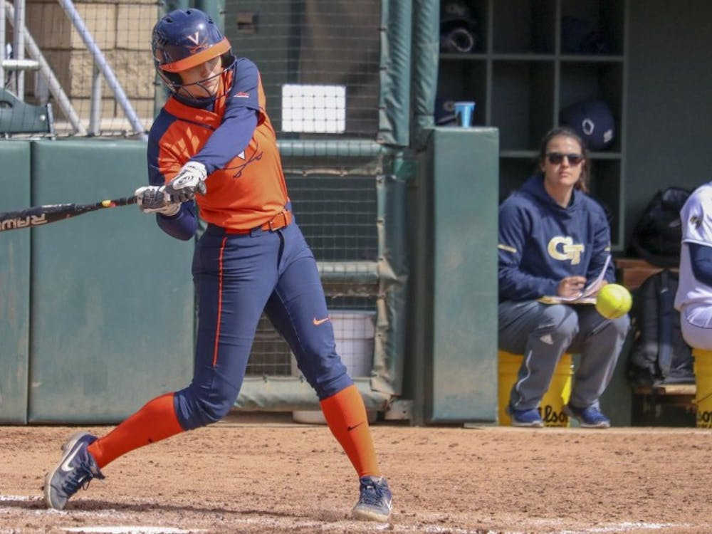 Freshman outfielder Tori Gilbert recorded a double against Duke in Virginia's last game of the weekend.