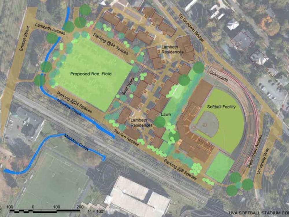 The proposed softball stadium would be located at Lambeth Field.