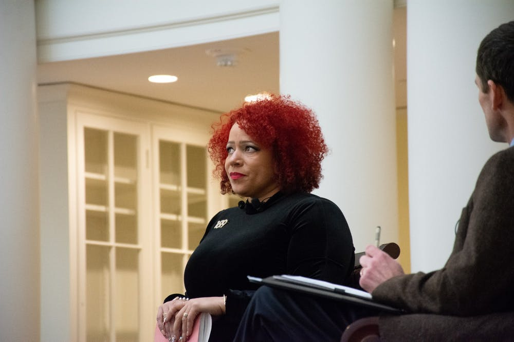 <p>During the question and answer period, community activist Tanesha Hudson and first-year College student Zyahna Bryant brought up the issue of space and place at the University.</p>