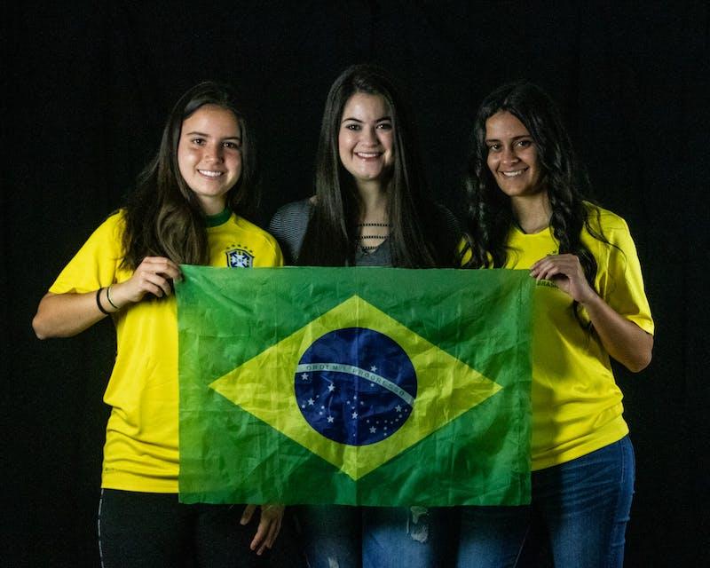 Intl student portrait series - Mariana, Giovanna, Isabela