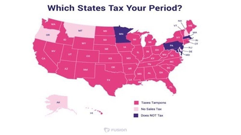 states imposing tax on tampons