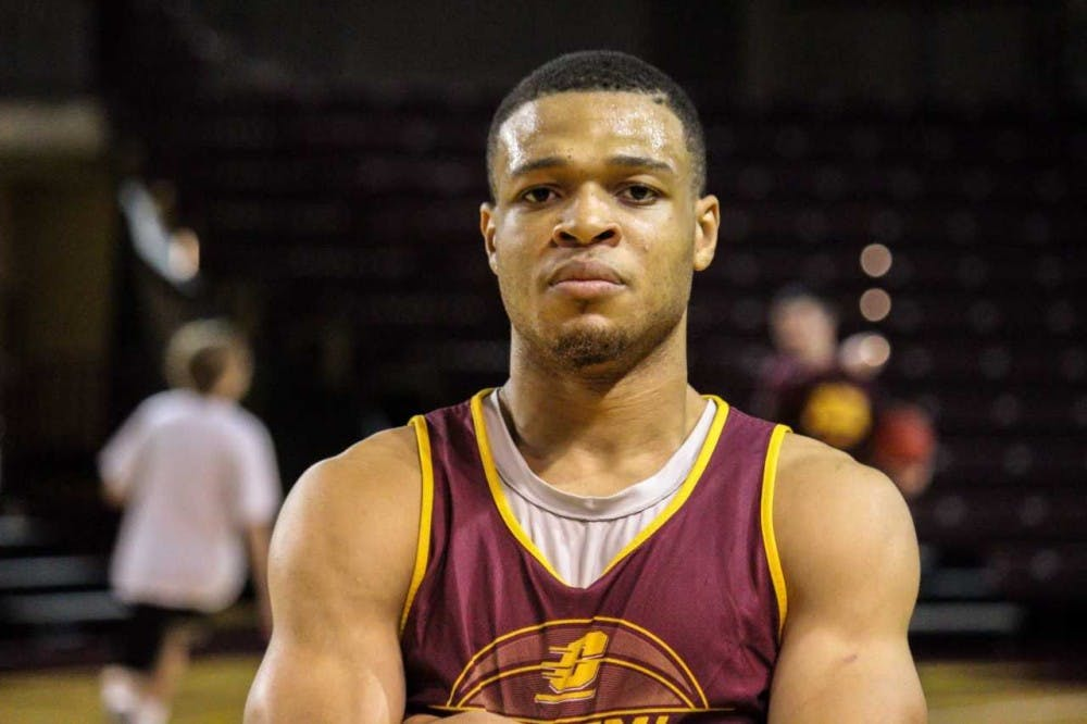 Larry Austin Jr. at practice for Central Michigan