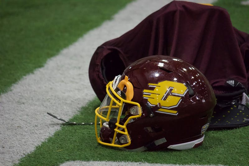 CMU Football Helmet