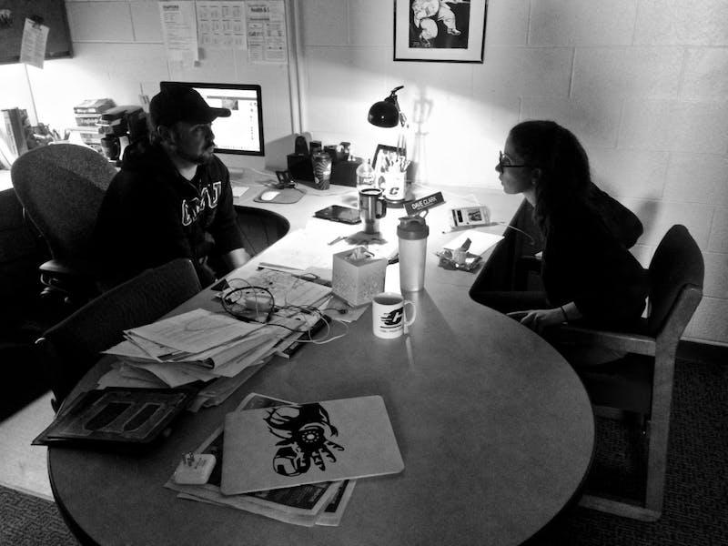 Black and White newsroom