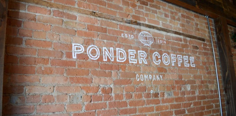 ponder coffee shop wall
