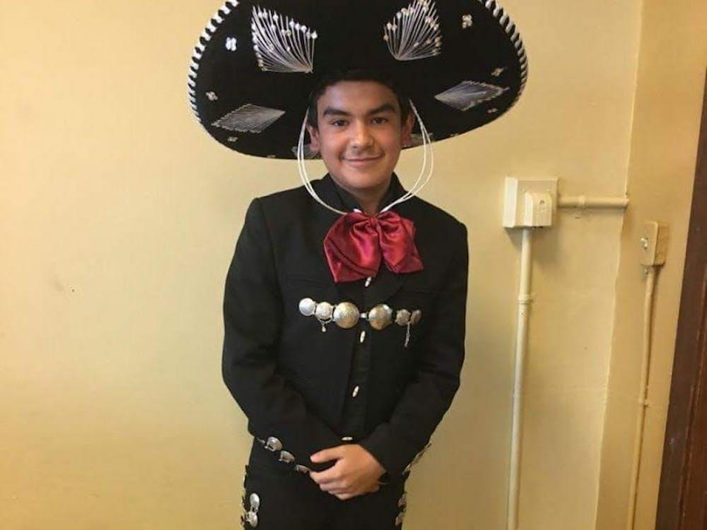 FreshmanEmiliano Cantudresses up for Latino week.