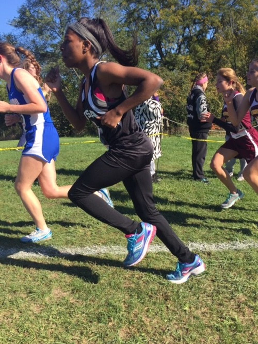 <p>West Side Academy junior Ashlee&nbsp;Diamond uses the grueling five kilometer runs in cross country as conditioning for the upcoming basketball season.</p>