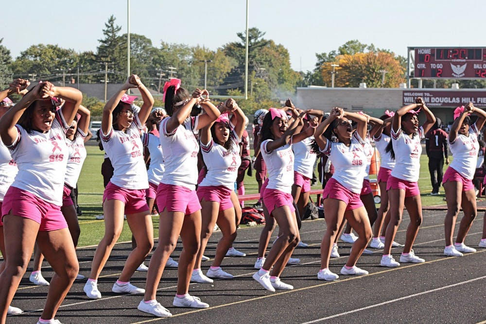 "<p>""We practice three hours a day for four days, and cheer at games on Fridays,"" said Renaissance senior and cheer captain&nbsp;Alonja Lavett-Pearl Smith. ""People consider it not a sport for the simple fact that they think it's easy.""</p>"