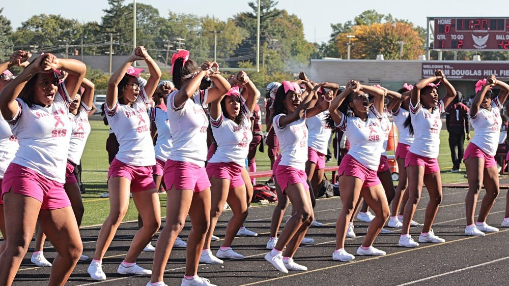 """We practice three hours a day for four days, and cheer at games on Fridays,"" said Renaissance senior and cheer captain Alonja Lavett-Pearl Smith. ""People consider it not a sport for the simple fact that they think it's easy."""
