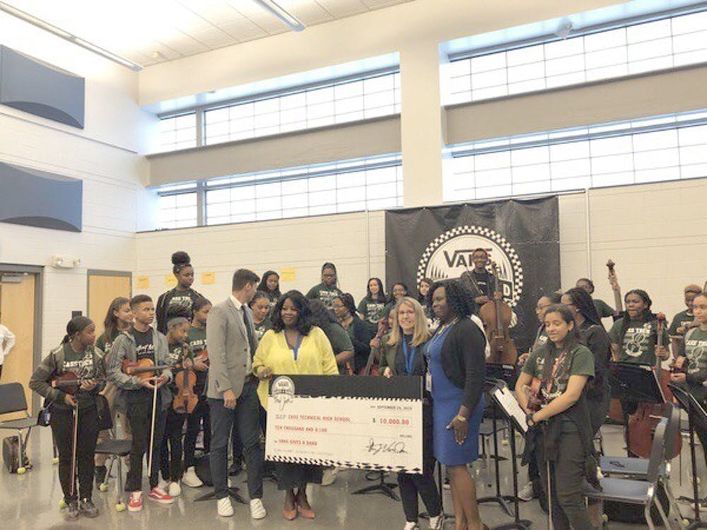 <p>Cass Technical High School is among six Detroit schools that received donations from Vans to support their music programs.</p>