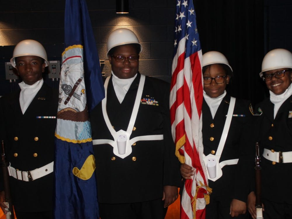Members of the NJROTC Color Guard