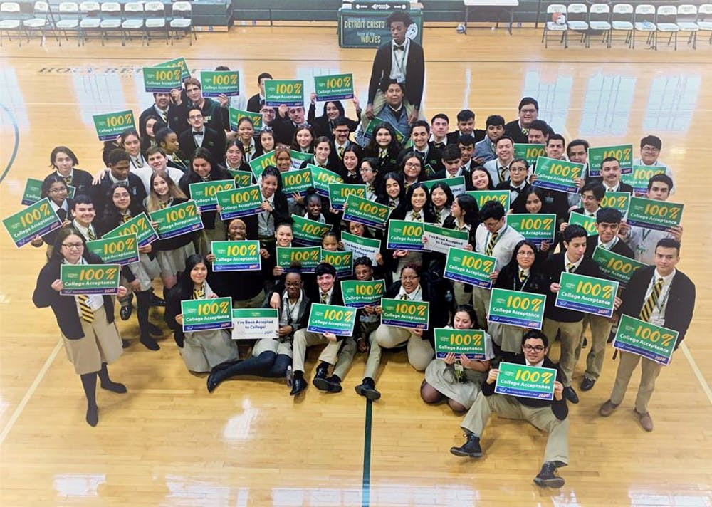 <p>This year's senior class at Cristo Rey had 296 individual college acceptances from 210 universities and 83 community colleges.&nbsp;</p>