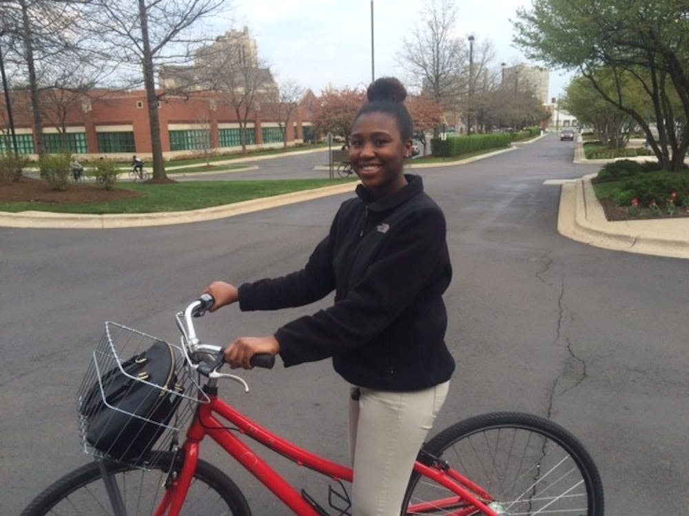 Cass Tech's Kaelyn Collins is ready to ride -- or roll.