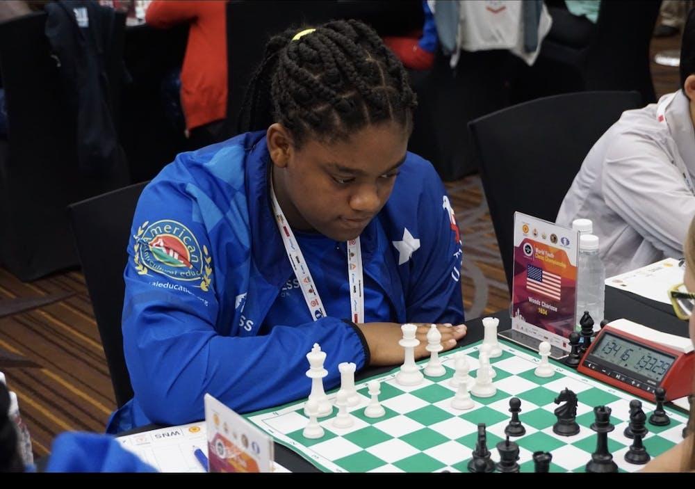 <p>Sharisse Woods in Mumbai India at the World Chess Championship. Photo by Jadie Woods.</p>