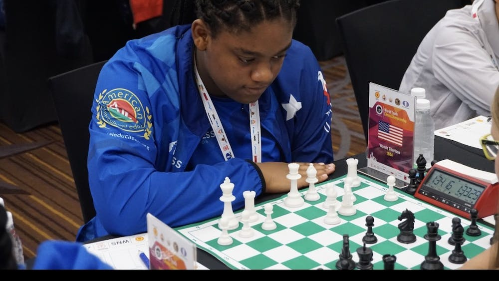 Sharisse Woods in Mumbai India at the World Chess Championship. Photo by Jadie Woods.