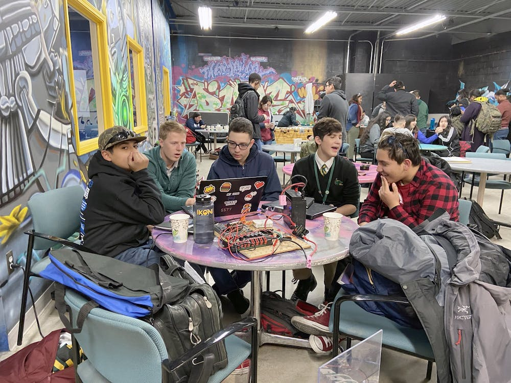 <p>The DHDC provides a space for Detroit robotics teams to share ideas, creations, and solutions with each other. Photo by Lizbeth Morales.</p>