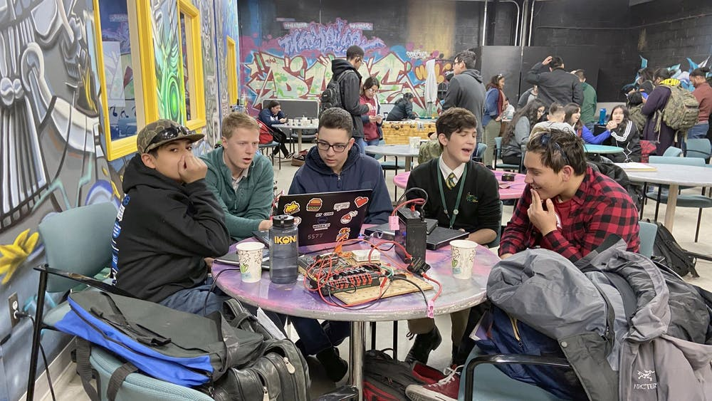 The DHDC provides a space for Detroit robotics teams to share ideas, creations, and solutions with each other. Photo by Lizbeth Morales.