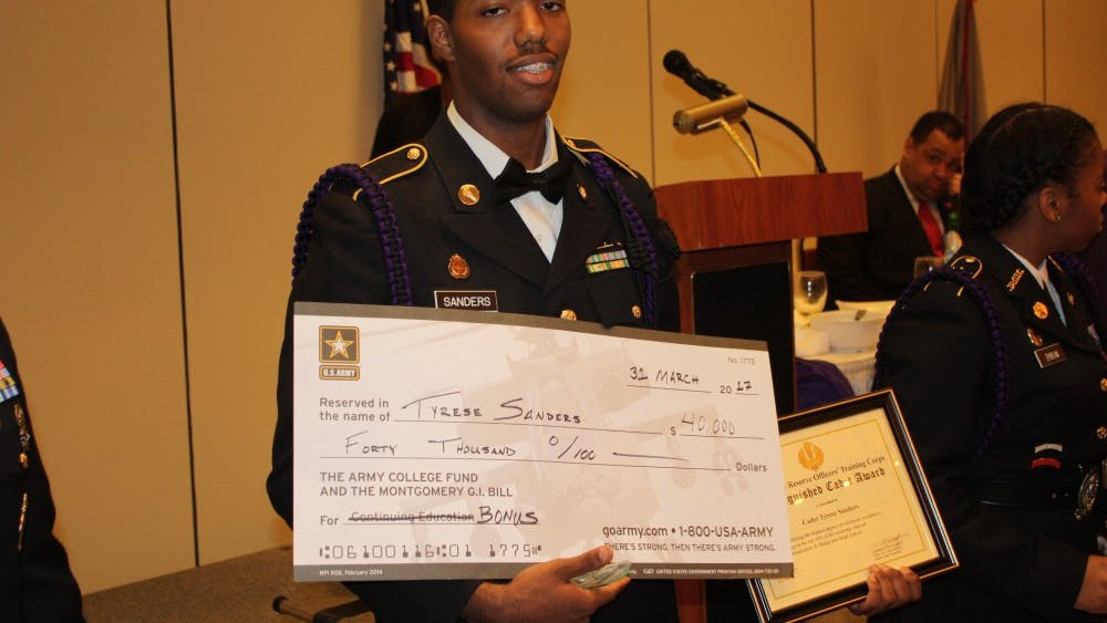 CMA senior Tyrese Sanders was awarded over $40,000 and a position in the army as a cardiovascular specialist.