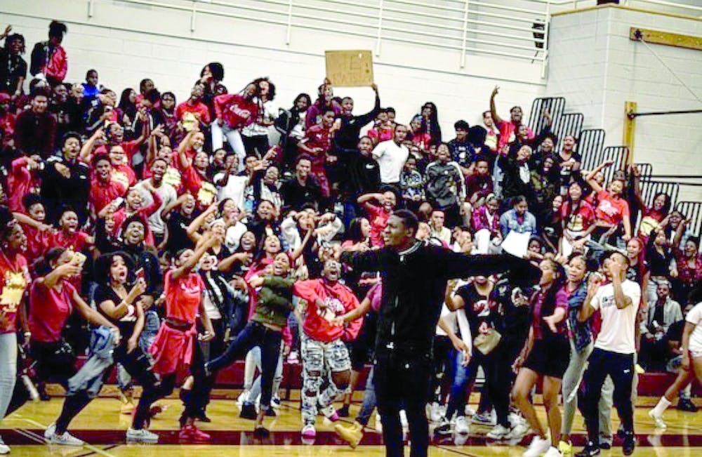 <p>Instagram influencer Big Tae hosted the Renaissance High School homecoming Pep Rally on Oct. 11.</p>