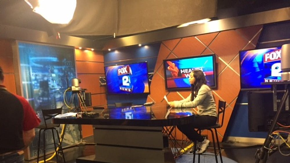 West Side Academy junior Brittney Blue turned a class assignment into a TV appearance.