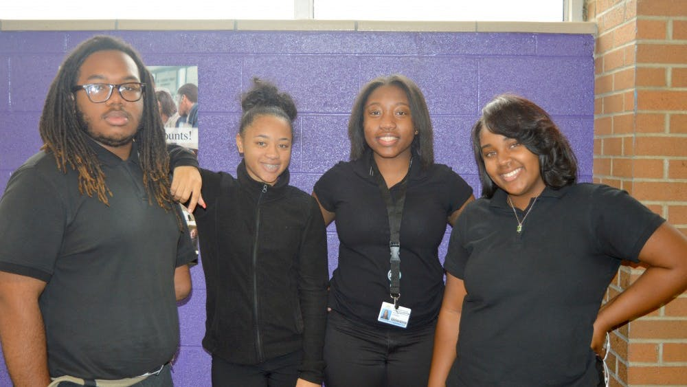 CMA's class officers (right to left): Alonzo Macon, Siobhan Stringer, Tiffany Hansboro and Lawren Sparks.
