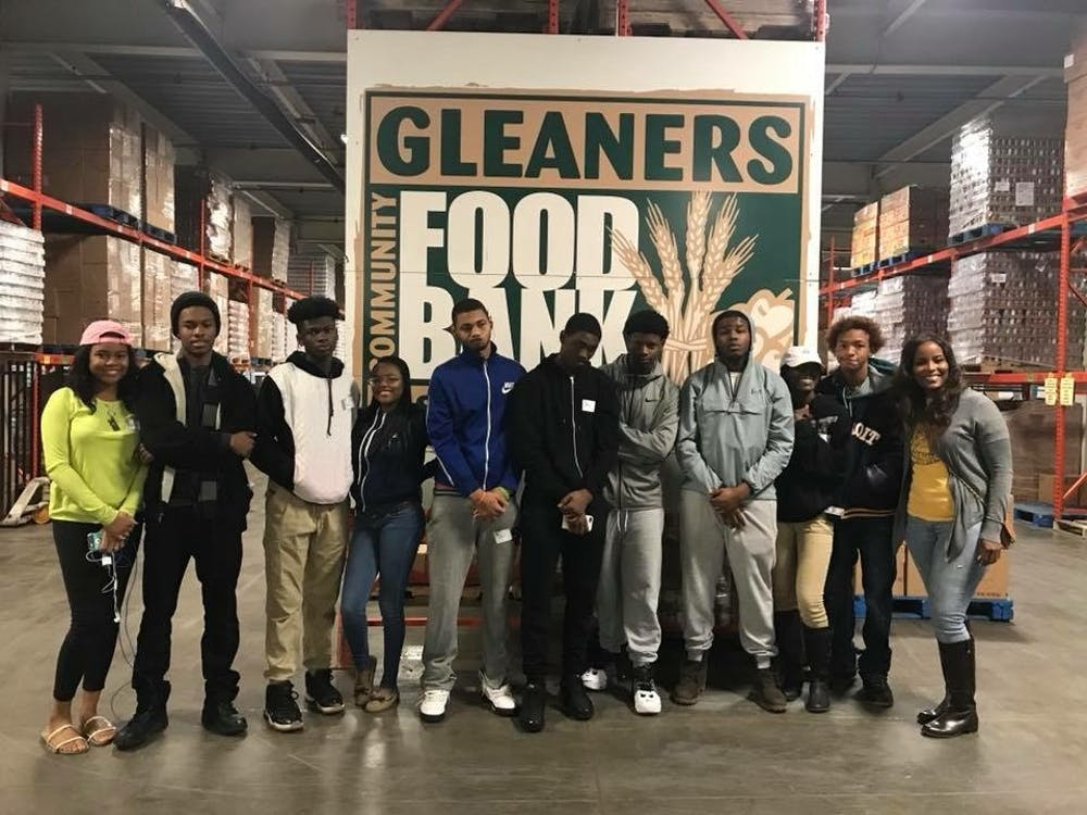 The students who volunteered at Gleaners had the opportunity to meet their community service requirement needed to graduate.