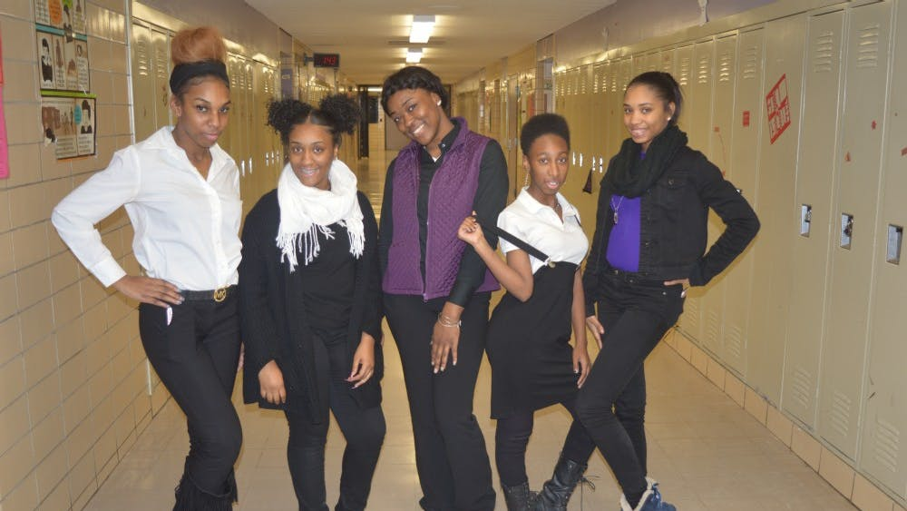 Dressing to impress, CMA Seniors Kristy'Ana Neal, Alexus Senior, Kai White, Junior Amaris Hampton, and Sophmore Amari Mcklinley pose to show off their unique styles.