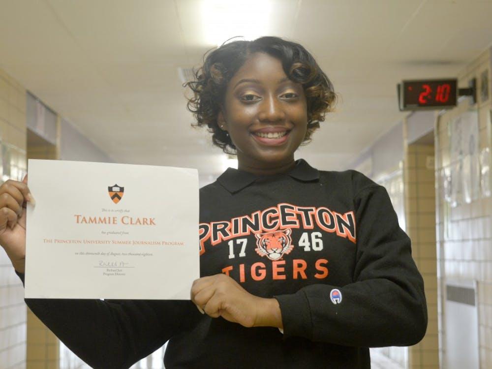 CMA's Tammie Clark shows off her Princeton gear.