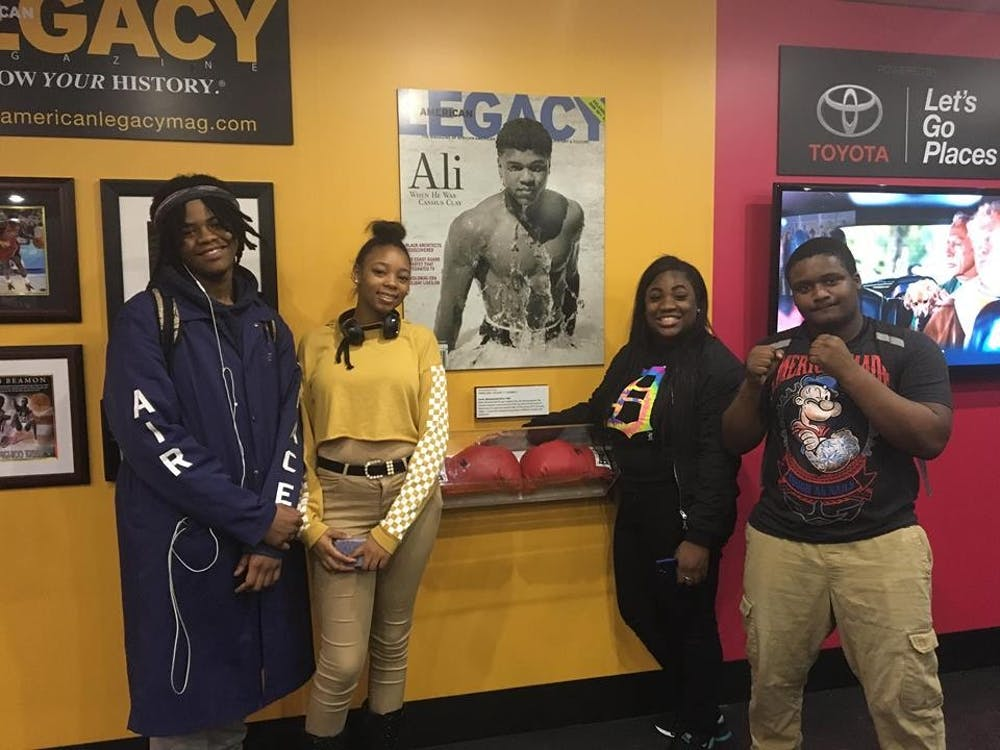 Students at Western kicked off Black History Month with an opportunity to board a mobile museum filled with images and displays highlighting African Americans.
