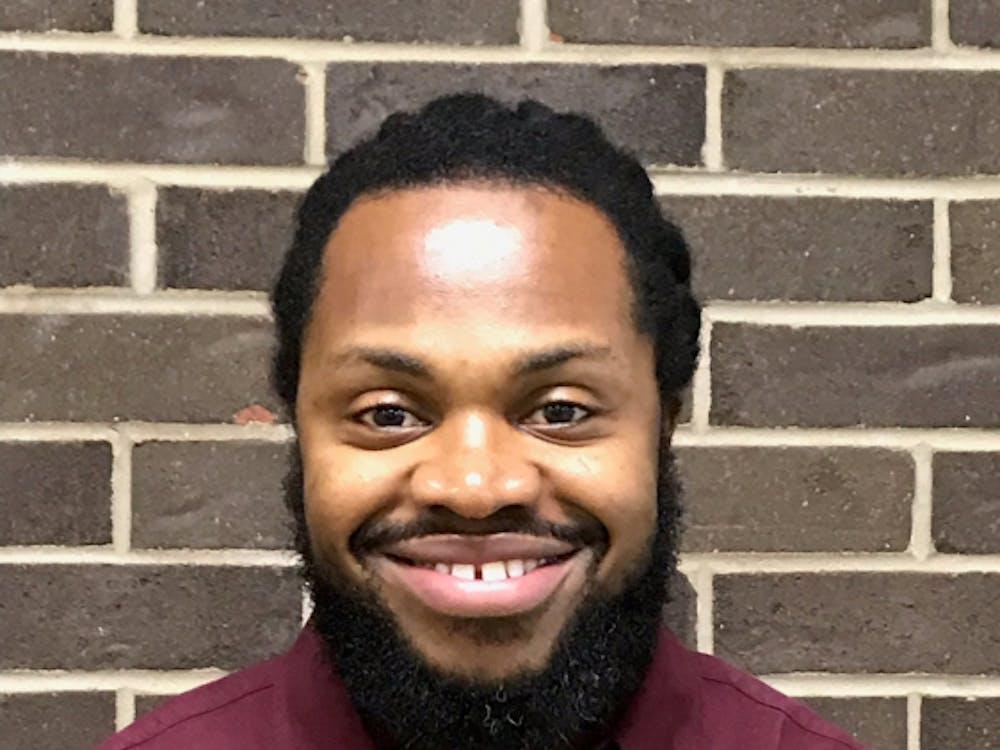 Demond Washington, 34, is a student intern at Frederick Douglass Academy.