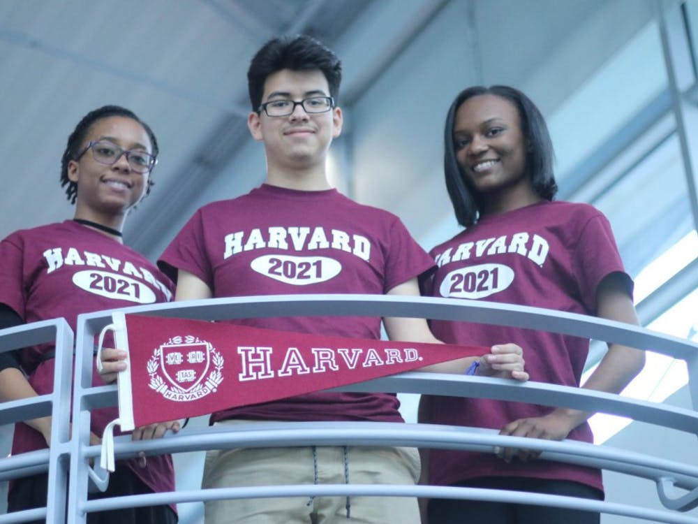 T'Ajmal Hogue, Christie Jackson, and Diego Navarrete will attend Harvard in the fall.