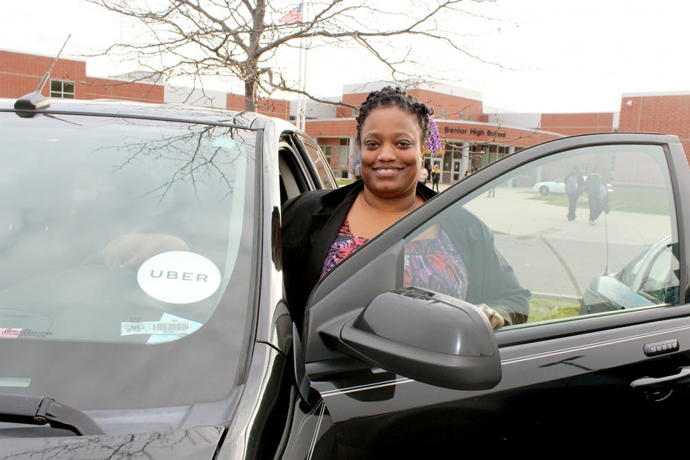 <p>When math teacher Casey Edgar leaves King, she begins her second job as an Uber driver. She has held this part-time job for two years.</p>