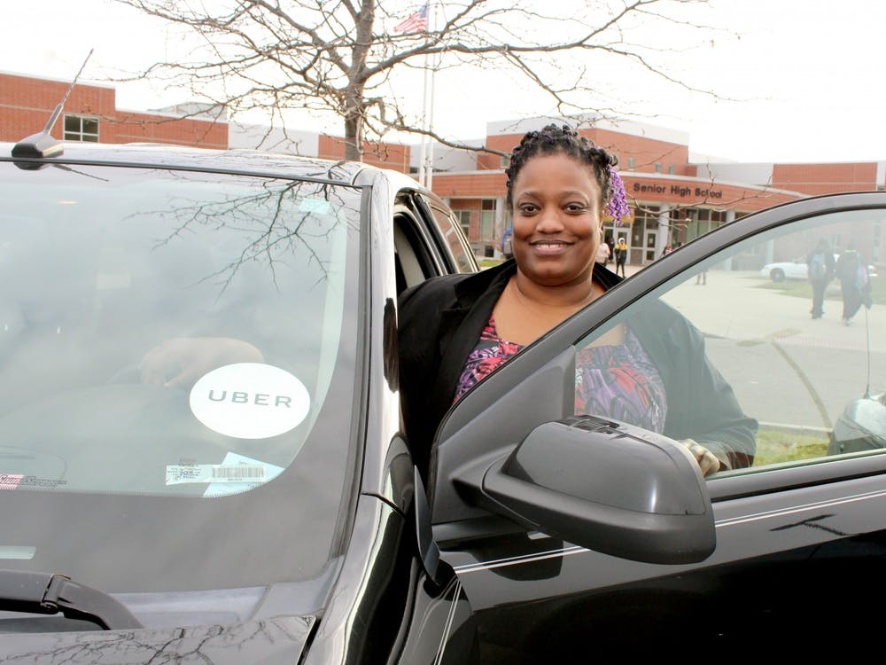 When math teacher Casey Edgar leaves King, she begins her second job as an Uber driver. She has held this part-time job for two years.