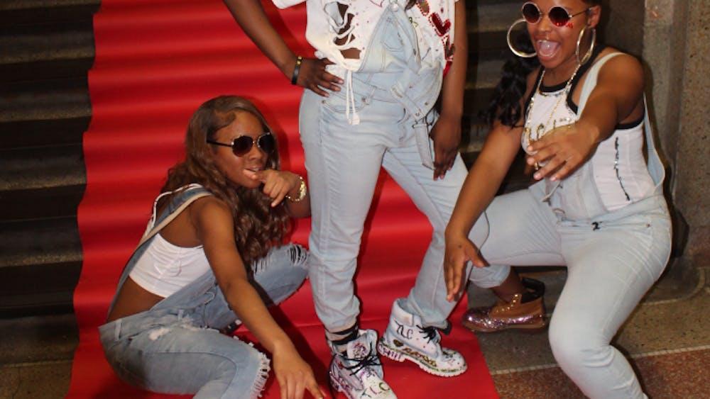 DaJuanna Harris, LaShawnda Conley, and Chloe Butler pose as TLC