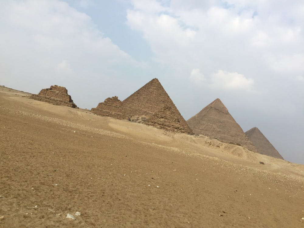 During Christmas break, Cass Tech's Ananda Irving visited Egypt. She said the whole trip, including a visit to the pyramids, was an eye-opener for her.
