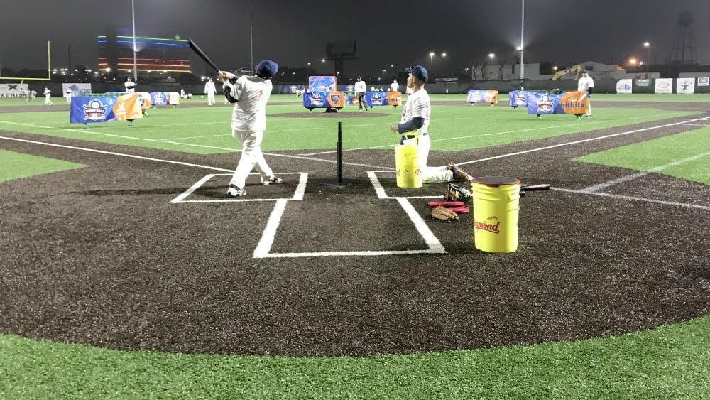 A young athlete competes for the chance to meet Miguel Cabrera at the Corner Ballpark.