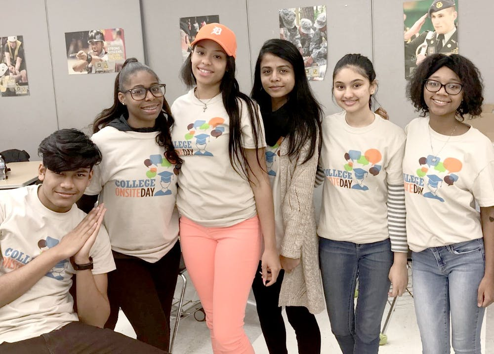 <p>CT Seniors, from left to right: Abdul Repon, D'aja Whitfield, Aaliyah Sanchez, Tahiat Tisha, Moumita Chawdhury, Imani Hall-Jennings. Photo by Ariel Tuff.</p>