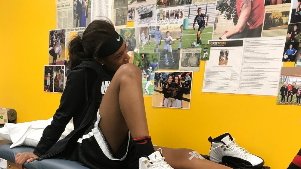 Junior Del'Janae Williams has to attend regular scheduled doctor's appointments after surgery to get clearance to begin physical therapy.