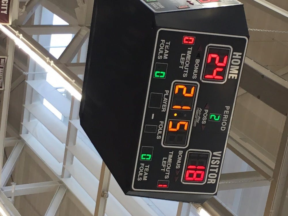 <p>Clock winds down as RHS staff defeats students 24-18 in annual student vs. staff competition. </p>