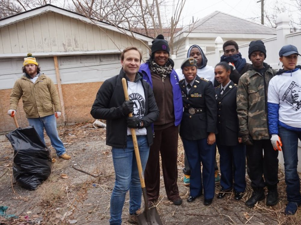 As part of MLK Day, Communications and Media Arts High School staff, students and other volunteers came together to fix up the communities around the school.